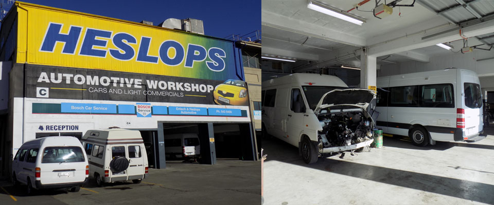 Heslops Motor Group Car Workshop